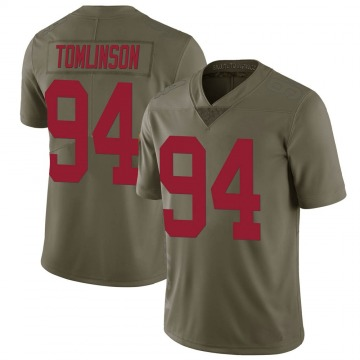 Men's Dalvin Tomlinson New York Giants Limited Green 2017 Salute to Service Jersey
