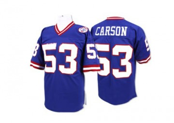Men's Harry Carson New York Giants Authentic Blue Throwback Jersey