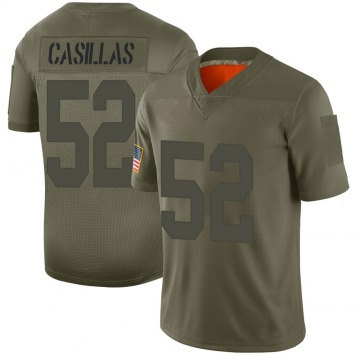 Men's Jonathan Casillas New York Giants Limited Camo 2019 Salute to Service Jersey