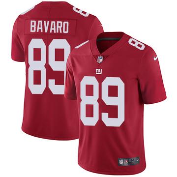 Men's Mark Bavaro New York Giants Limited Red Alternate Jersey
