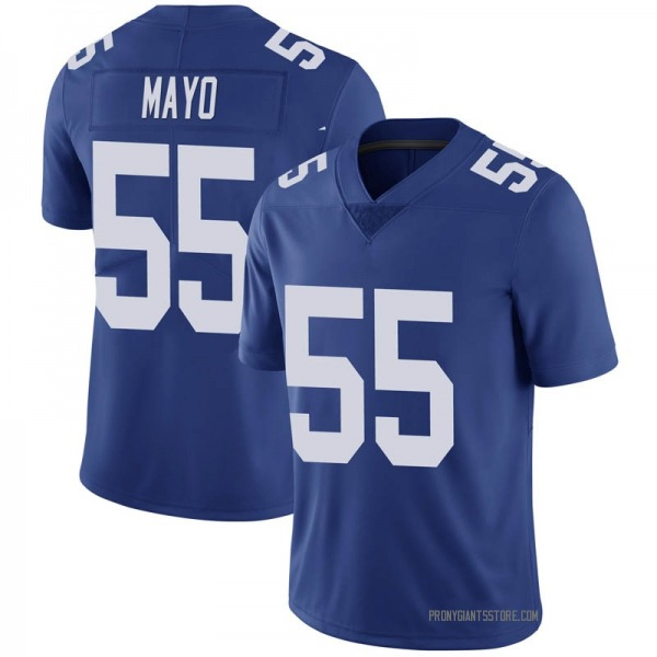 Youth David Mayo New York Giants Limited Royal 100th Vapor Jersey