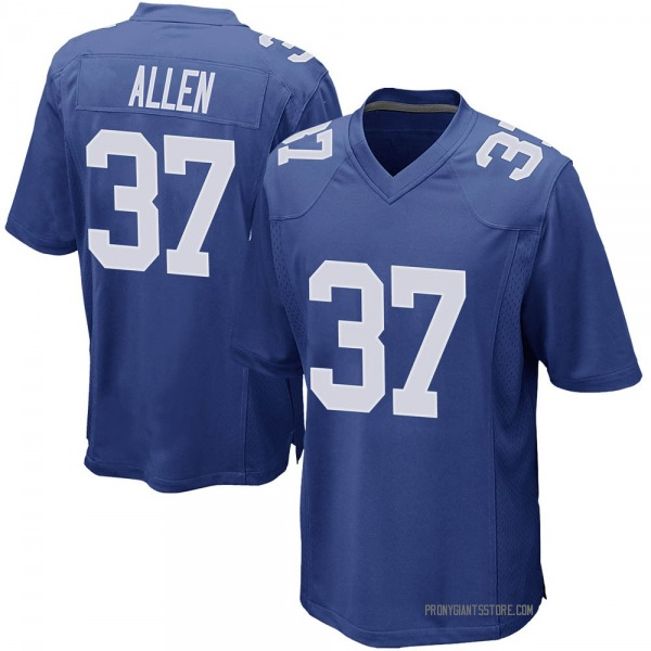 Youth Javorius Allen New York Giants Game Royal Team Color Jersey