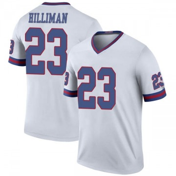 Youth Jonathan Hilliman New York Giants Legend White Color Rush Jersey