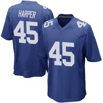 Youth Madre Harper New York Giants Game Royal Team Color Jersey