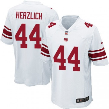 Youth Mark Herzlich New York Giants Game White Jersey