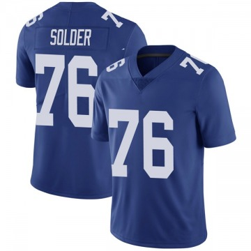 Youth Nate Solder New York Giants Limited Royal Team Color Vapor Untouchable Jersey
